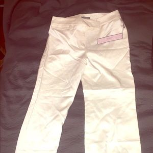 Ann Taylor Cream Satin Slacks